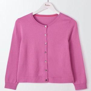 Boden Cotton Favourite Crop Crew Cardigan Sweater